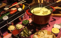 Cheese fondue and pierrade ... the perfect combination!