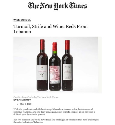 Turmoil, Strife and Wine: Reds from Lebanon